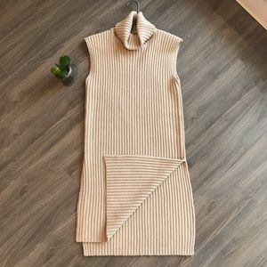NWT*Lucca Couture long top knit vest side splits M